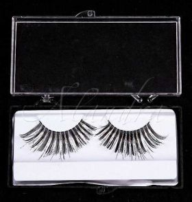 Black Eyelashes with Silver