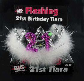Flashing 21st Tiara
