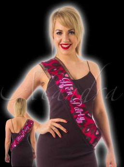 Hen Night Hen Party Lace Sash