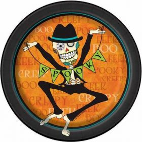 "Day of the Dead 7"" Plates pk8"