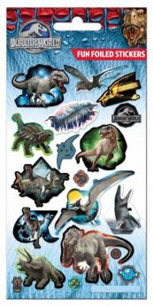 Jurassic World Foiled Stickers