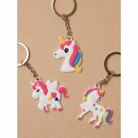 Unicorn Charm Keyring