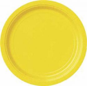 Sunflower Yellow Plates pk8