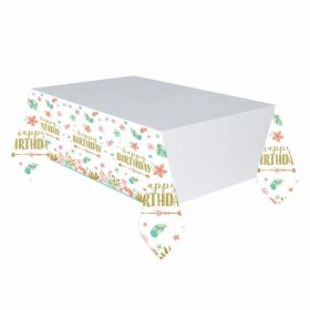 Boho Birthday Girl Paper Tablecover 1.37m x 2.43m