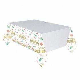 Boho Birthday Girl Paper Tablecover 1.37m x 2.43m