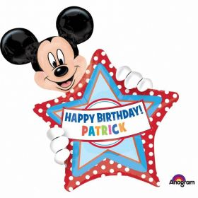 Mickey Mouse Personalised Birthday SuperShape Foil Balloon