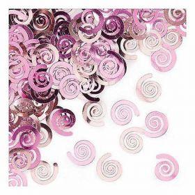 Classic Pink Swirls Confetti