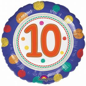 SpotOn 10th Happy Birthday Standard Foil Balloons