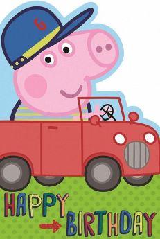 Peppa Pig Boy Birthday Card