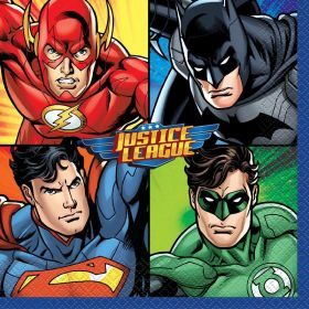 Justice League Napkins 33cm x 33cm, pk16