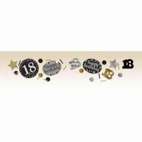 Gold Sparkling Celebration 18th Confetti 34g