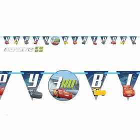 Cars 3 Add an Age Birthday Banner