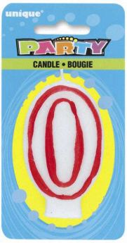 Red & White Party Candle 0