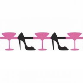 Martini & Heels Glitter Cutout Party Garland