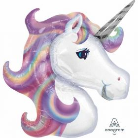 Pastel Unicorn SuperShape Foil Balloon 33''