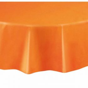Value Orange Round Plastic Tablecover