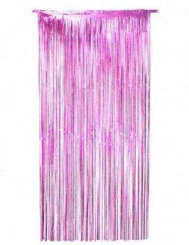 Pink Foil Door Curtain