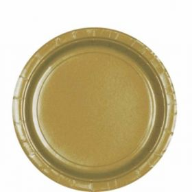 Gold Paper Plates pk8