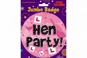 Hen Party Jumbo Badge