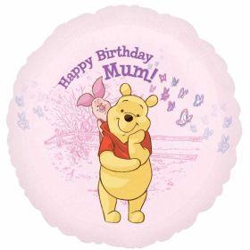 Happy Birthday Mum Winnie the Pooh Foil Balloon