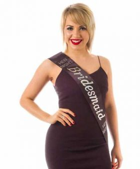 Black Bridesmaid Sash