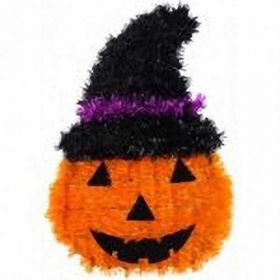 Halloween Pumpkin Hanging Tinsel Decoration