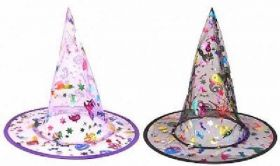 Multi Colour Witch Hat - Child Size