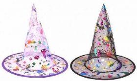 Multi Colour Witch Hat - Child Size