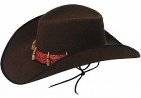 Adult Cowboy with Teeth Hat