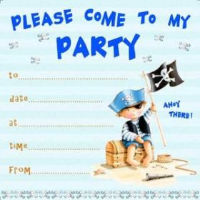 Pirate Boy Invitations pk10