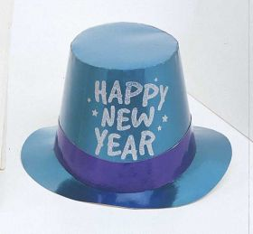 New year glitter top hats