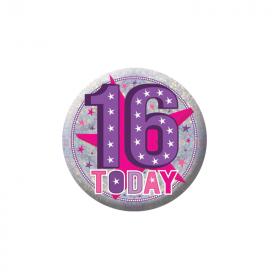 Happy 16th Birthday Holographic Badge