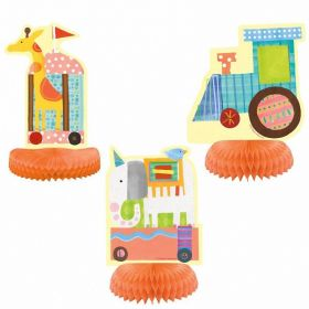 3 Circus Animal Centerpiece Decoration-Assorted