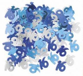 Blue Glitz 16 Party Confetti