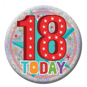 18 Today Birthday Badge