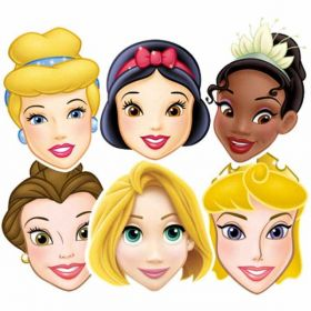 Disney Princess - Assorted Masks pk6