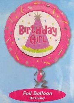 Birthday Girl 17in Foil Balloon