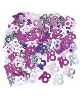 Pink Glitz 18 Party Confetti