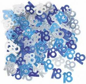 Blue Glitz 18 Party Confetti