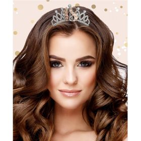 18th Birthday Rose Gold Boxed Birthday Tiara