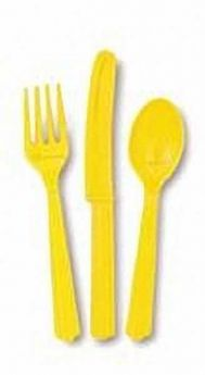Yellow Cutlery pk18