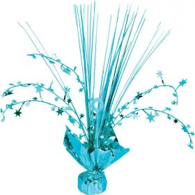 Caribbean Blue Spray Centrepiece Balloon Weights 30cm
