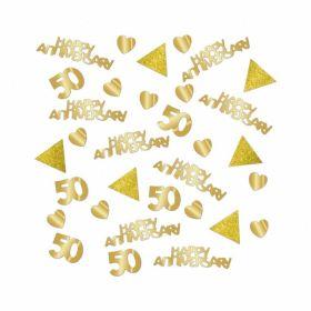 Sparkling Golden Anniversary Confetti
