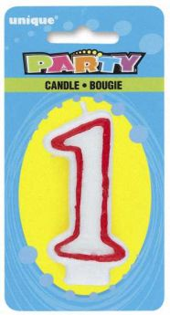 Red & White Party Candle 1