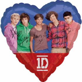 One Direction 1D Group Standard Foil Party Balloon
