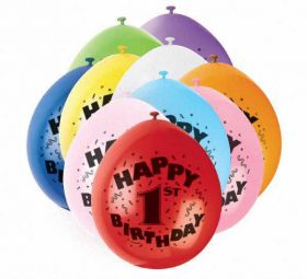 Balloons Happy 1st Birthday Airfill Party Balloons 10pk