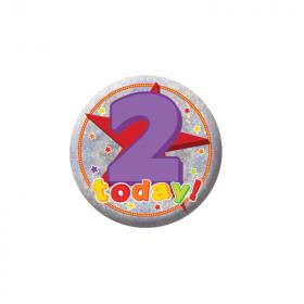 2 Today Birthday Badge