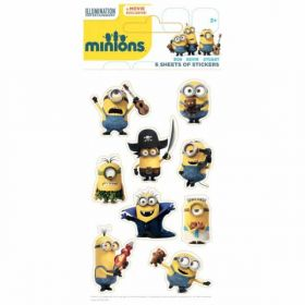 Minions Party Bag Stickers pk6