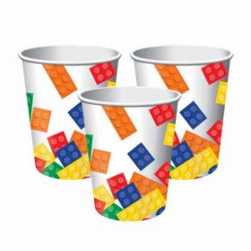 Block Party Paper Cups, pk8