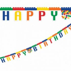 Block Party Happy Birthday Card Banner 7.75 ft